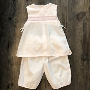 Petit Ami Hand Embroidered Baby Pink Set - 24 mo.